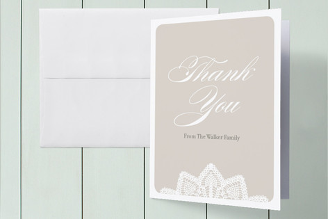 Baptismal Lace Baptism and Christening Thank You Cards