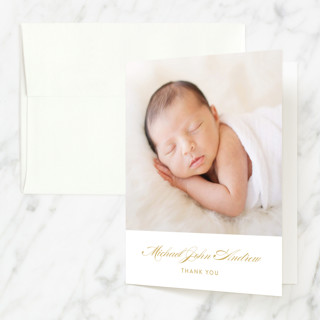 Engraved Cross Baptism and Christening Thank You Cards