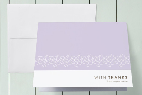 Dove Outline Baptism and Christening Thank You Cards