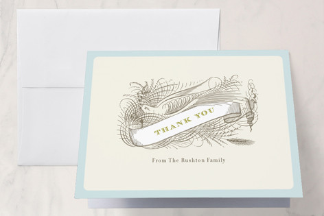 Float + Birdie Baptism and Christening Thank You Cards