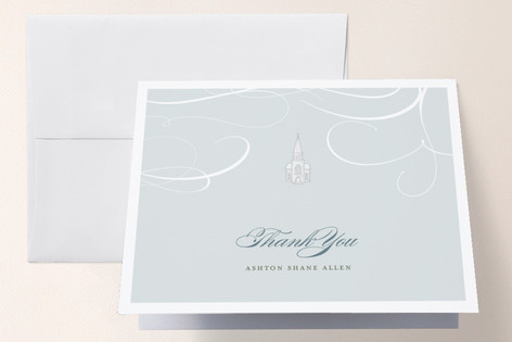 Little Church Baptism and Christening Thank You Cards