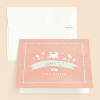 Little Lamb Baptism and Christening Thank You Cards