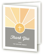 Window Baptism and Christening Thank You Cards