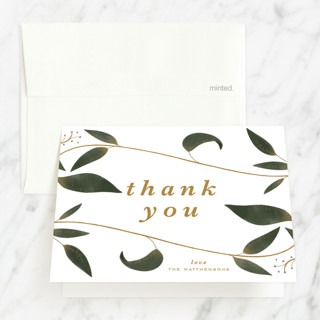 Garden Baptism and Christening Thank You Cards