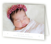twinkling gradient Baptism and Christening Thank You Cards