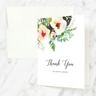 lovely floral faith Baptism and Christening Thank You Cards