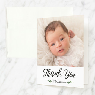 Belonging Baptism and Christening Thank You Cards
