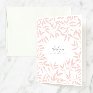 Blessed Laurels Baptism and Christening Thank You Cards