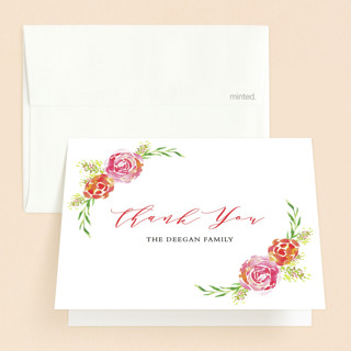 Blessing From Above Baptism and Christening Thank You Cards