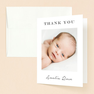 Signature Frame Baptism and Christening Thank You Cards