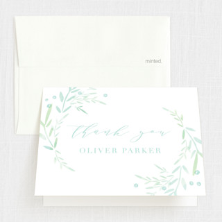 Garden Frame Baptism and Christening Thank You Cards