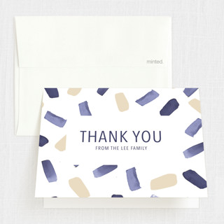 Paint Dash Baptism and Christening Thank You Cards
