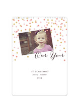Glittering Confetti Standard Calendars