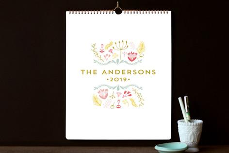 Floral Crest Standard Calendars
