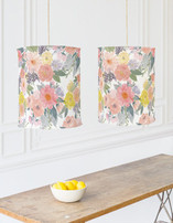 Bold Watercolor Floral Chandelier Lampshades