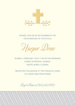 Sweet Cross Confirmation Invitations
