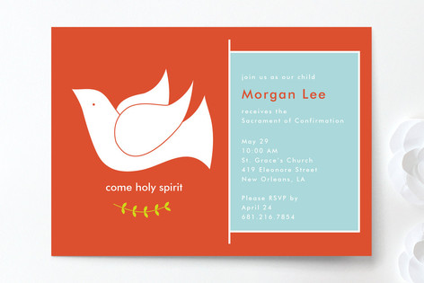 come holy spirit confirmation invitations by m p minted