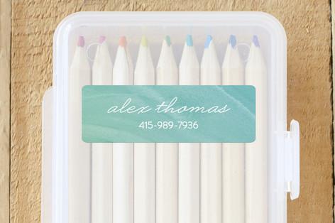 Watercolor Custom Name Labels