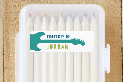 Modern Guitar Custom Name Labels