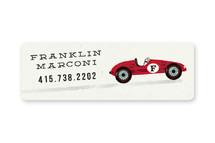 Vintage Race Car Custom Name Labels
