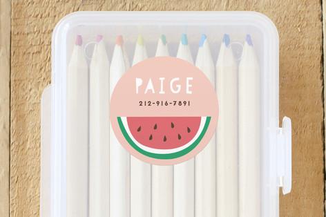 Watermelon Custom Name Labels