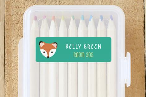 Red Fox Custom Name Labels