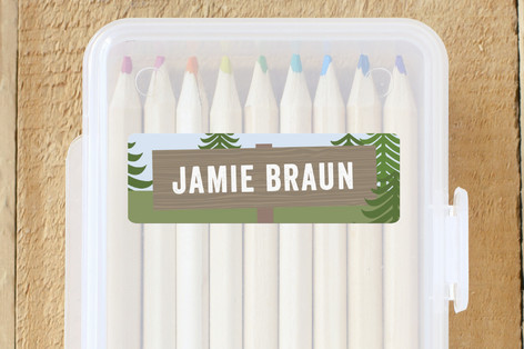 Camp Out Custom Name Labels