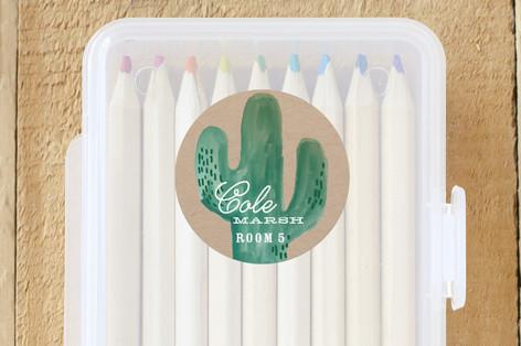 Wild Cactus Custom Name Labels