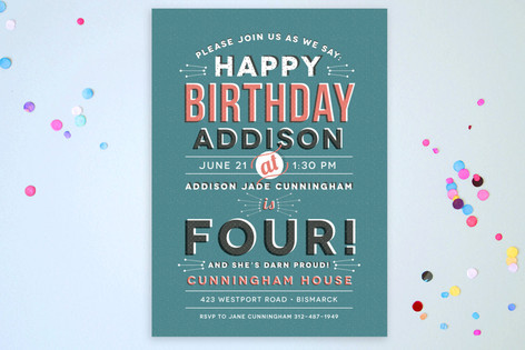 Four-Year-Old Vintage Children's Birthday Party Postcards
