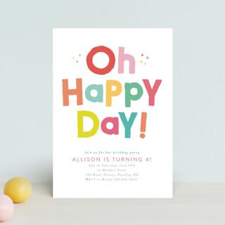 Happy Day Children's Birthday Party Postcards