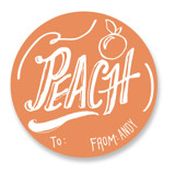 Peach Custom Stickers