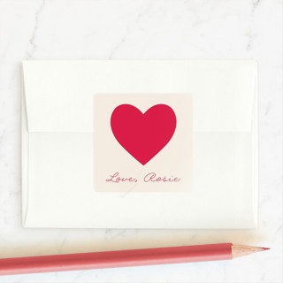 Cute hearts Custom Stickers