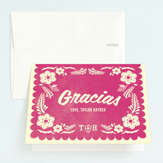 Papel Picado Childrens Birthday Party Thank You Cards