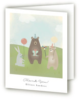 bears birthday party Childrens Birthday Party Thank You Cards