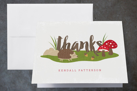 Woodland Childrens Birthday Party Thank You Cards