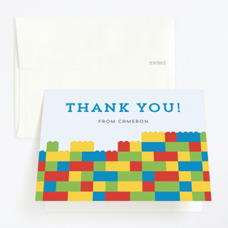 Master Builders Party Childrens Birthday Party Thank You Cards