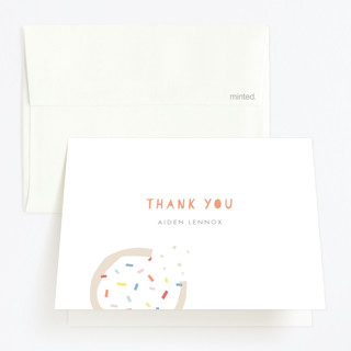 Sprinkles And Icing Childrens Birthday Party Thank You Cards