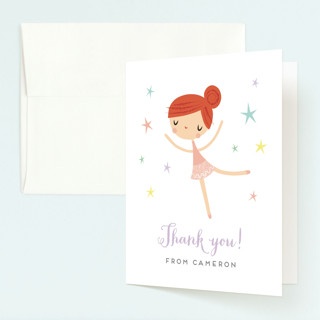 Tiny Dancer Childrens Birthday Party Thank You Cards