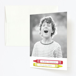 Colorful Party Childrens Birthday Party Thank You Cards
