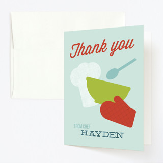 Baking Party Childrens Birthday Party Thank You Cards