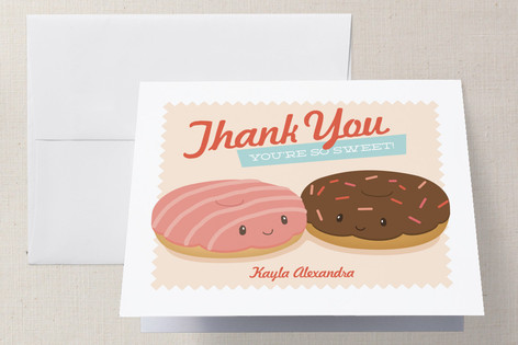 Donut Miss The Party Childrens Birthday Party Thank You Cards