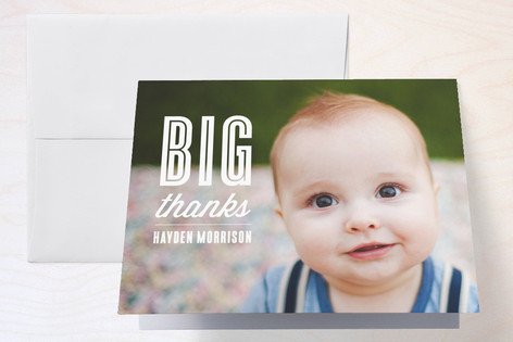 Bye Bye, Baby Childrens Birthday Party Thank You Cards