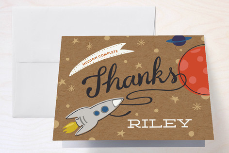 Mission To Mars Childrens Birthday Party Thank You Cards
