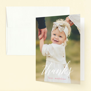 floral balloon Childrens Birthday Party Thank You Cards