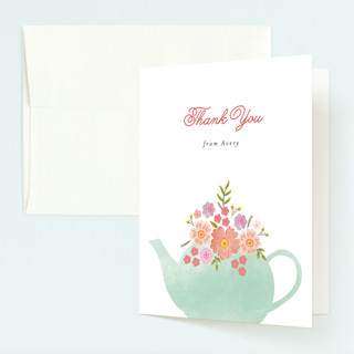 Tea Party Childrens Birthday Party Thank You Cards