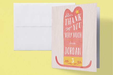 Ten Gallon Grandeur Childrens Birthday Party Thank You Cards