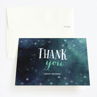 Catch the Stars Childrens Birthday Party Thank You Cards