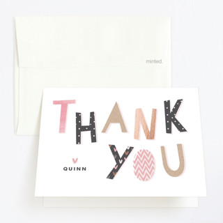 Crafty Party Childrens Birthday Party Thank You Cards