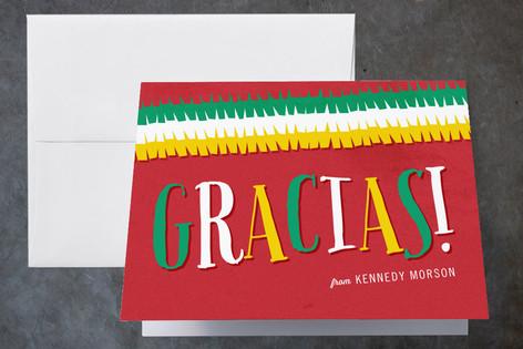 Fiesta Birthday Childrens Birthday Party Thank You Cards