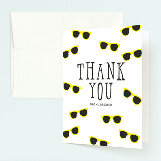 Birthday Shades Childrens Birthday Party Thank You Cards